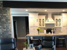 Living into open kitchen